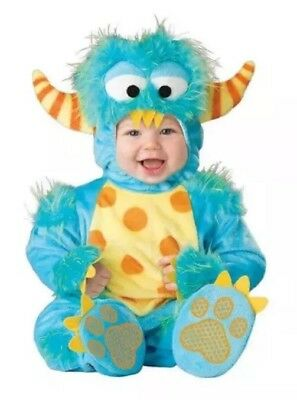 Baby Toddler Little Lil Monster Full Body Halloween Costume 12 18 Months 2T Mint (Lil Monster Toddler Costume)