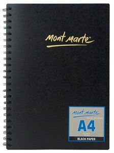 MSB0022 - Mont Marte A4 Black Paper Visual Art Diary