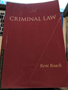 Criminal Law sixth edition By Kent Roach