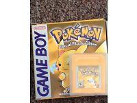 Gameboy Pokemon yellow