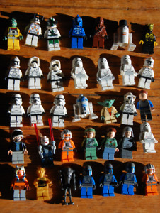 Large Lot of Lego Star Wars Minifigures