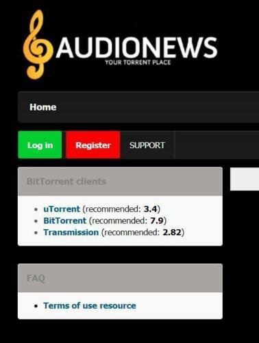Audionews Invite - Torrent Tracker