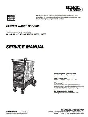 Lincoln Power Wave 350500 Service Manual