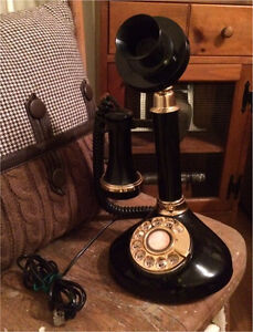 Vintage replica candlestick rotary phone