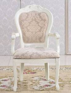 "&:""New Queen Anne Floral Fabrics Wooden Armchair Dinging Chair Kellyville The Hills District Preview"