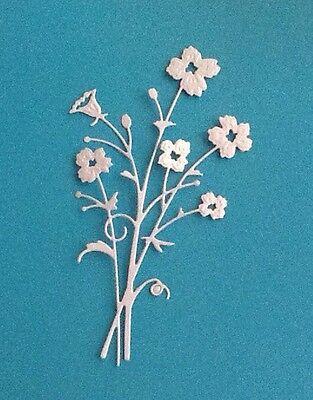 4 Memory Box Bella Flower Die Cuts, Handmade