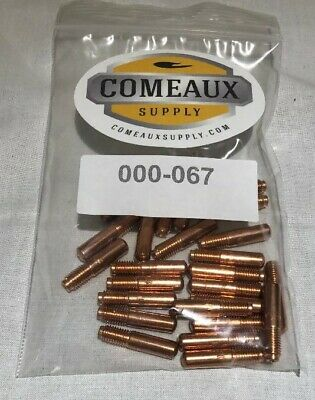 25 Contact Tips 000-067 .030 Miller M-152540 Hobart Mig Welding Gun Comeaux