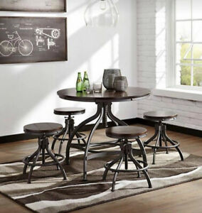 HIGHT ADJUSTABLE DINING TABLE AND STOOLS !!!!