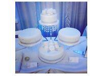 Crome 4 tier wedding cake stand