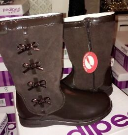 Pediped flex, Brown calf boots RRP£50 now £20 or 2 for £30 sizes 6 to 1, also in other colours