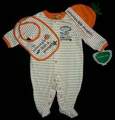 Mom Baby Halloween Costumes (Baby Romper Pumpkin Set Halloween Costume 3 6 mos Mommy's Little Mummy)