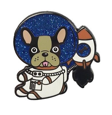 ASTRO DOG Enamel PIN FRENCH BULLDOG in SPACE Hat Lapel Backpack Pin