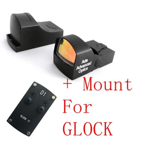 ADE RD3-009 Red Dot Sight+OPTIC PLATE for GLOCK 17 19 20 22 26 34 40 43 pistol