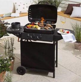Tesco 2 Burner Barbeque with Side Burner Brand New