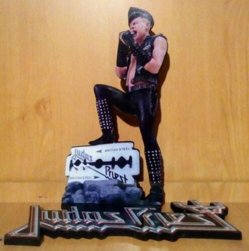 "ROB HALFORD DISPLAY 8"" STANDEE Figure Statue Cutout Judas Priest Standup Decor !"