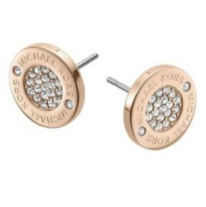 Authentic Michale Kors Rose Gold Colored Earrings