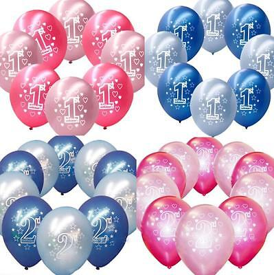 10 Stk 12'' Ballon Latexballon Girl's 1. Geburtstagsfeier Party Luftballon Dekor