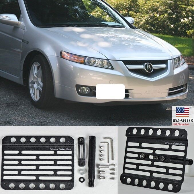 For 04-08 Acura TL Front Bumper License Plate Mount Holder