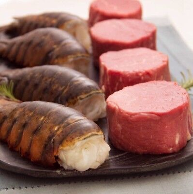 - USDA Fresh Angus Beef Filet Mignons 4ct & Maine Lobster Tails 4ct SHIPPED FROZEN