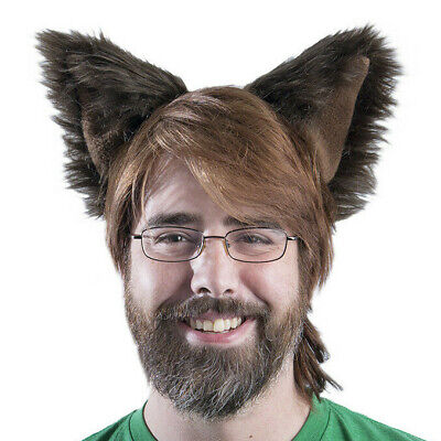 Dog Ears Halloween (PAWSTAR Dog Ears Headband - Furry Halloween Costume Dark Brown)