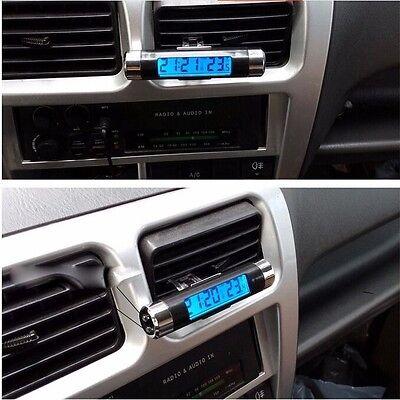 Digital LCD Car Auto Dashboard Thermometer Time Clock Calendar Blue Backlight