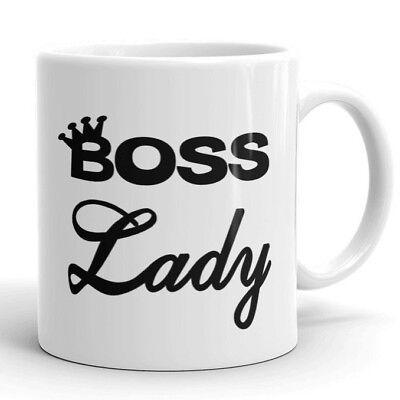 Boss Lady Mug Office Work 11 oz Coffee Tea Cup Cool Gifts fo
