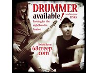 ******* Indie rock DRUMMER AVAILABLE....FOR female VOCALIST/SONGWRITER *******