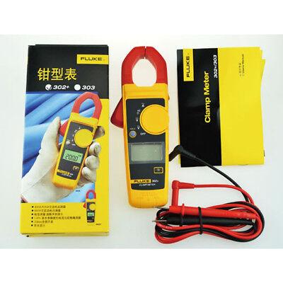 Fluke 302 F302 Handheld Digital Clamp Meter Multimeter Tester Dmm Acdc Volt