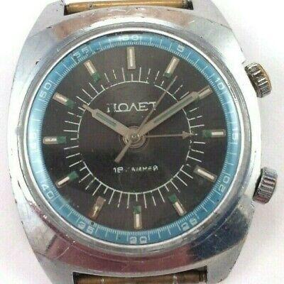 Vintage Soviet POLJOT Signal, Manual ALARM wrist watch, USSR *US SELLER* #1543