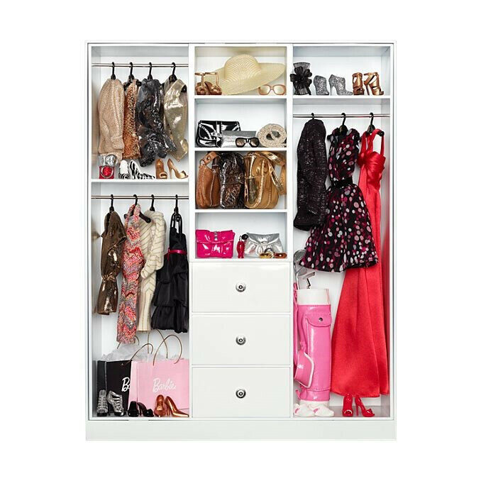2012 The Barbie Look Collection Wardrobe - MINT Original Box & Shipper Y3354