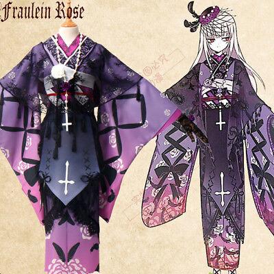 Rozen Maiden Suigintou 15 anniversary Cosplay Kostüm Costume Kimono Yukata Neu