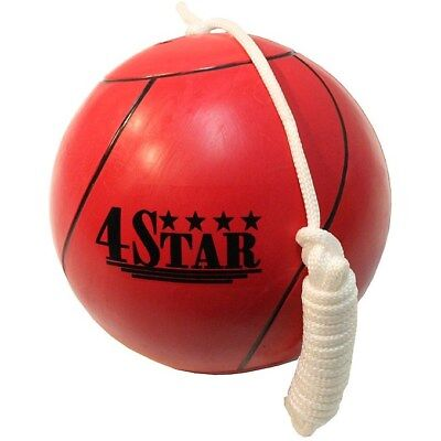OFFICIAL TETHER BALL RED w/ ROPE INCLUDED Outdoor Sports Playground Tetherball