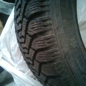 pair of goodyear winter tires 215/60R 15