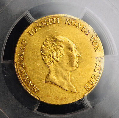 Click now to see the BUY IT NOW Price! 1823 KINGDOM OF BAVARIA MAXIMILIAN JOSEPH.  GOLD 1 DUCAT COIN. PCGS AU 53