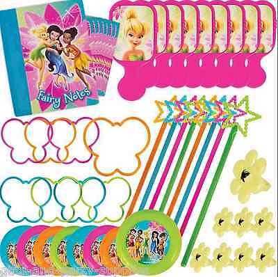 Disney Fairies Party Supplies (Disney Fairies Tinker Bell Birthday Party Mega Favors Pack ~ 48 pc ~ Tinkerbell)