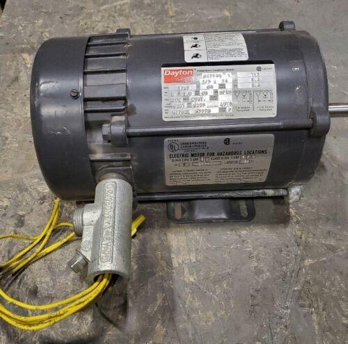 Dayton 1/3 HP Electric Motor for Hazardous Locations