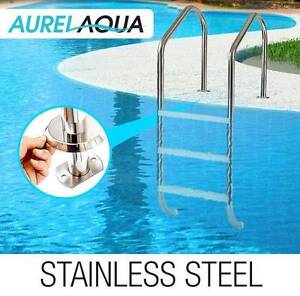Swimming Pool Ladder 3 Wide In-Ground Stainless Non-Slip Steps Melbourne CBD Melbourne City Preview