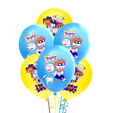 Cupcake Party Plates (XL RUGRATS CUPS PLATES BIRTHDAY PARTY DECORATION SUPPLIES BALLOON CUPCAKE)