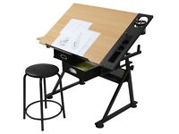 Large, adjustable desk with a slant - perfect for drawing.