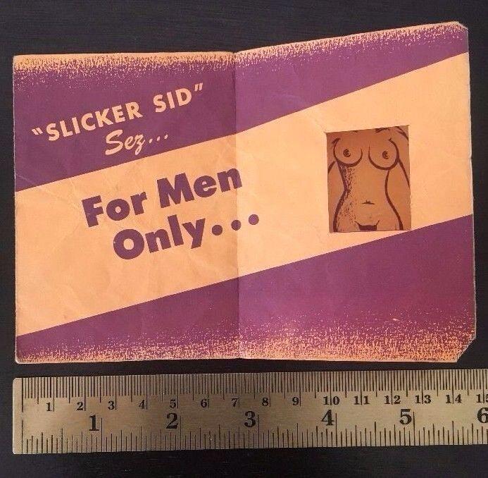 Slicker Sid Cartoon Risque Ad Nude Shaving Purple Razor Blades 1947 Sports