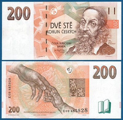 TSCHECHISCHE REPUBLIK / CZECH 200 Korun 1998 UNC  P.19