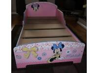 Minnie Mouse Toddler Bed With Memory Foam Mattress
