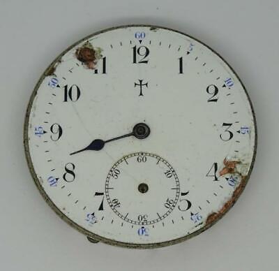 Vintage Ingersoll-Trenton Pocket Watch Movement, Parts,USA,circa 1897,43mm