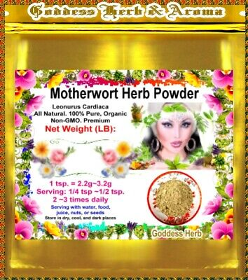 Motherwort Herb Powder - 1 LB Motherwort Herb Powder (Leonurus Cardiaca) PREMIUM 100% pure Organic Grown