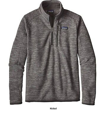 Patagonia Mens Better Sweater 1/4 Zip Pullover 25522 - Nickel Size: Large