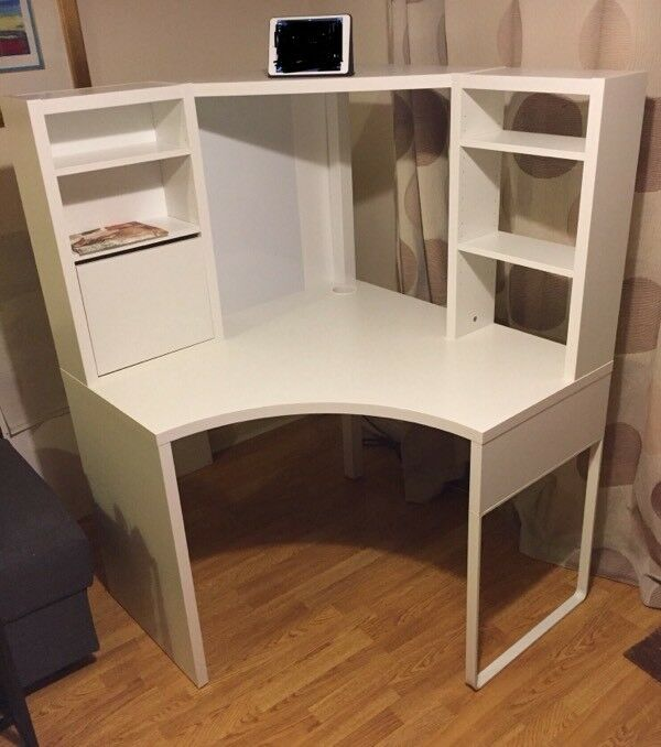 ikea micke corner desk white in boston spa west yorkshire gumtree. Black Bedroom Furniture Sets. Home Design Ideas