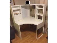 IKEA MICKE Corner Desk - White