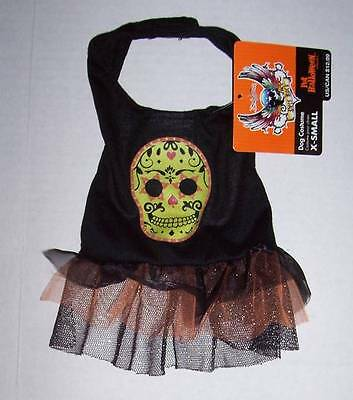 Nwt Bret Michaels Skull Dress Dog Costume Xs Extra Small Halloween