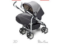 Silver Cross 3D complete Pram and Pushchair - Metropolitan