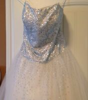 New Price*****Beaded White Prom or Wedding Gown